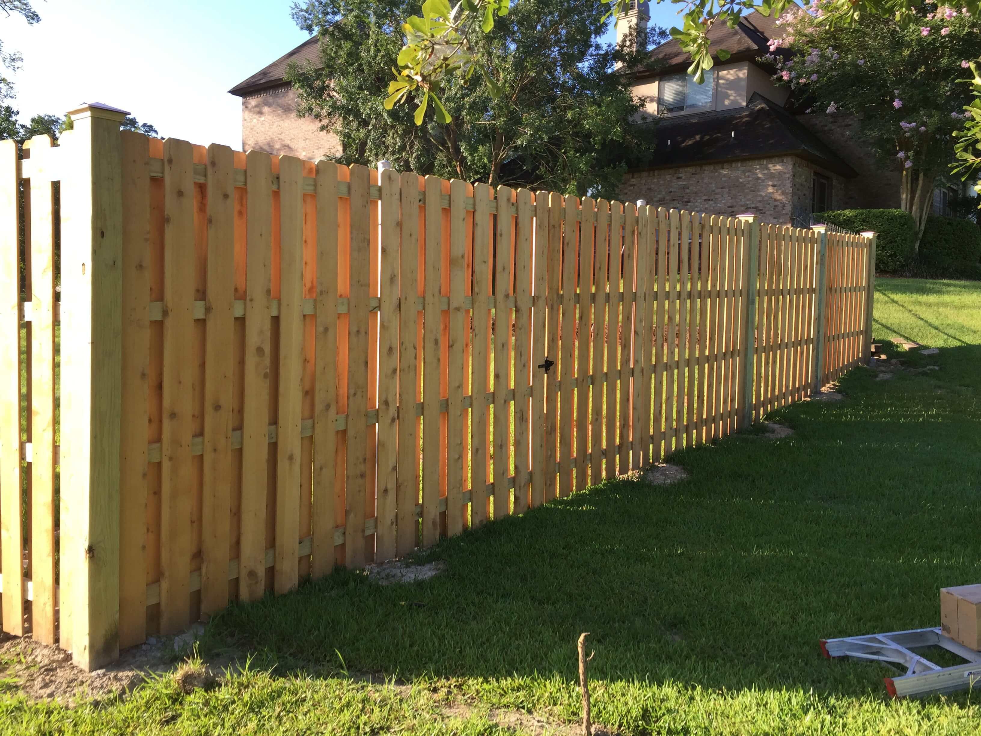 8' Cedar Shadow Box Fence