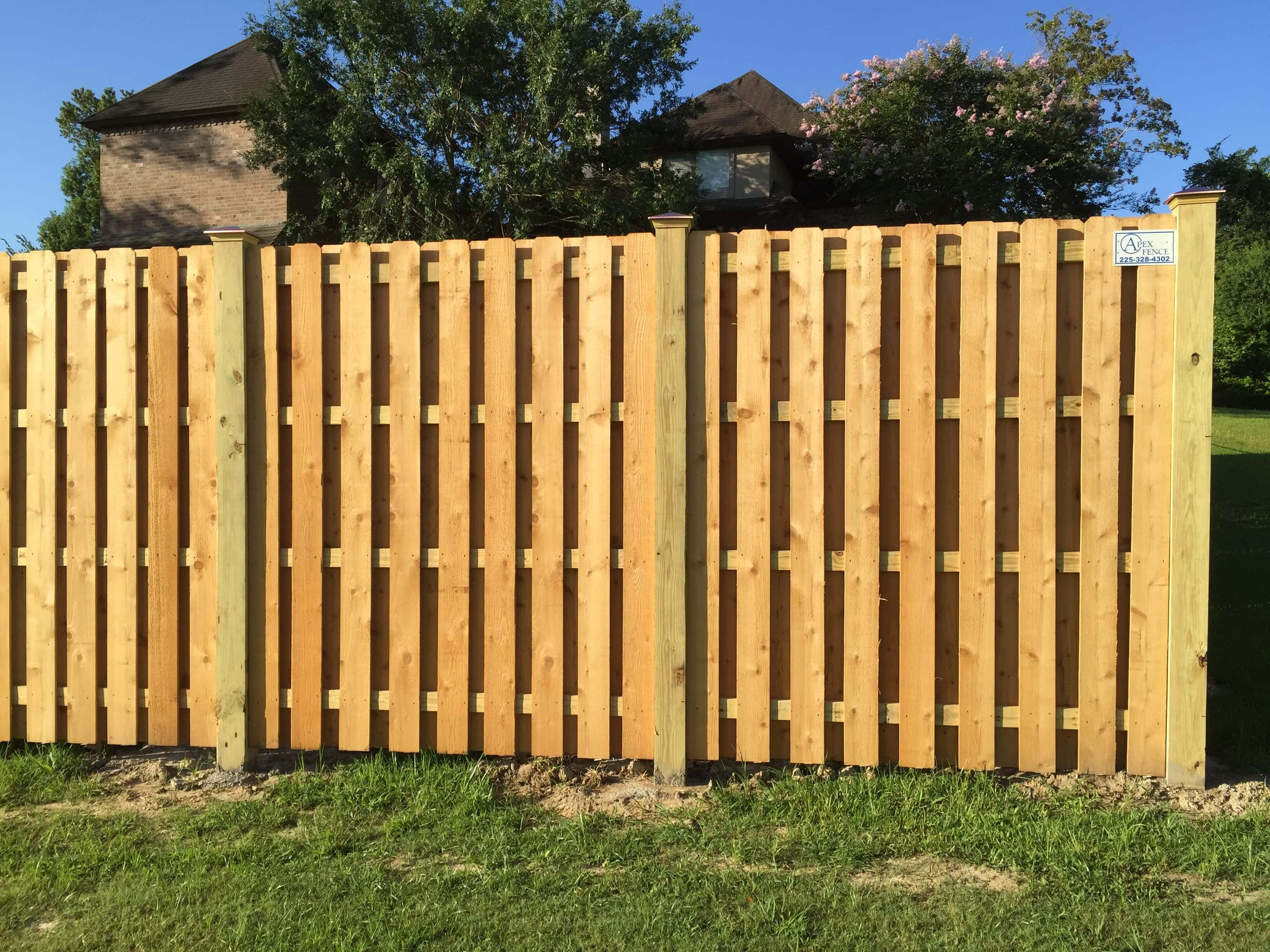 8' Cedar Shadow Box Fence