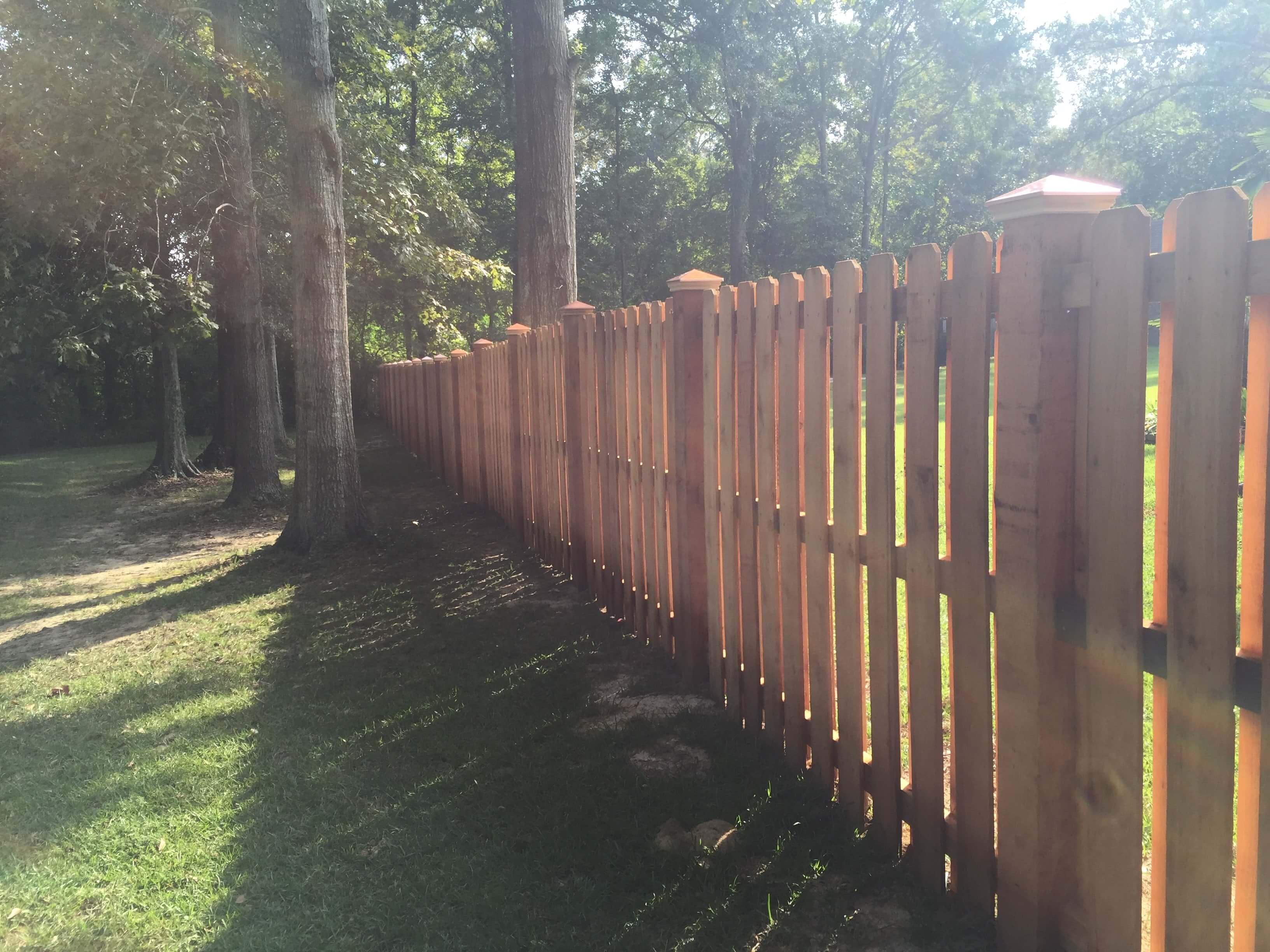 Custom 6' 100% Cedar  Shadow Box Fence