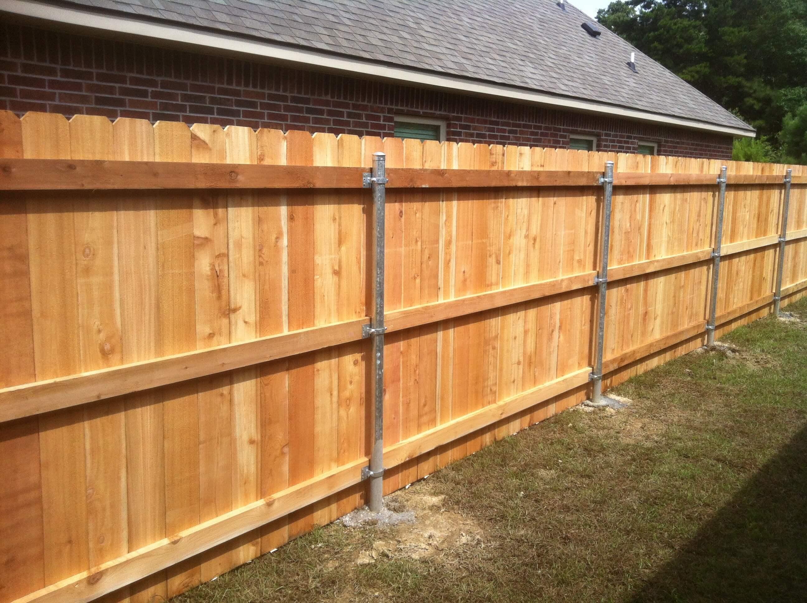 6' Cedar with Steel Posts