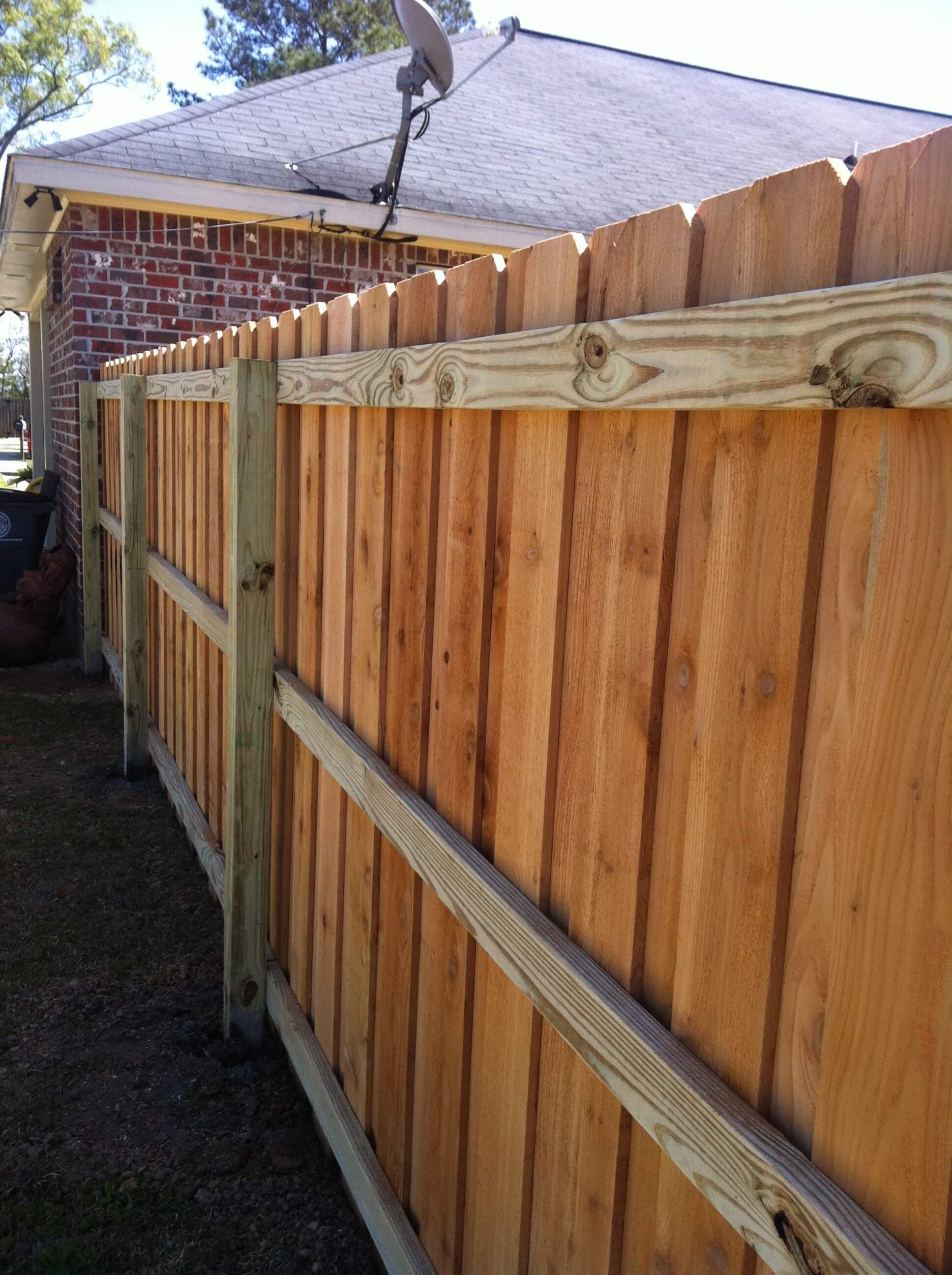California-Style Cedar Fence