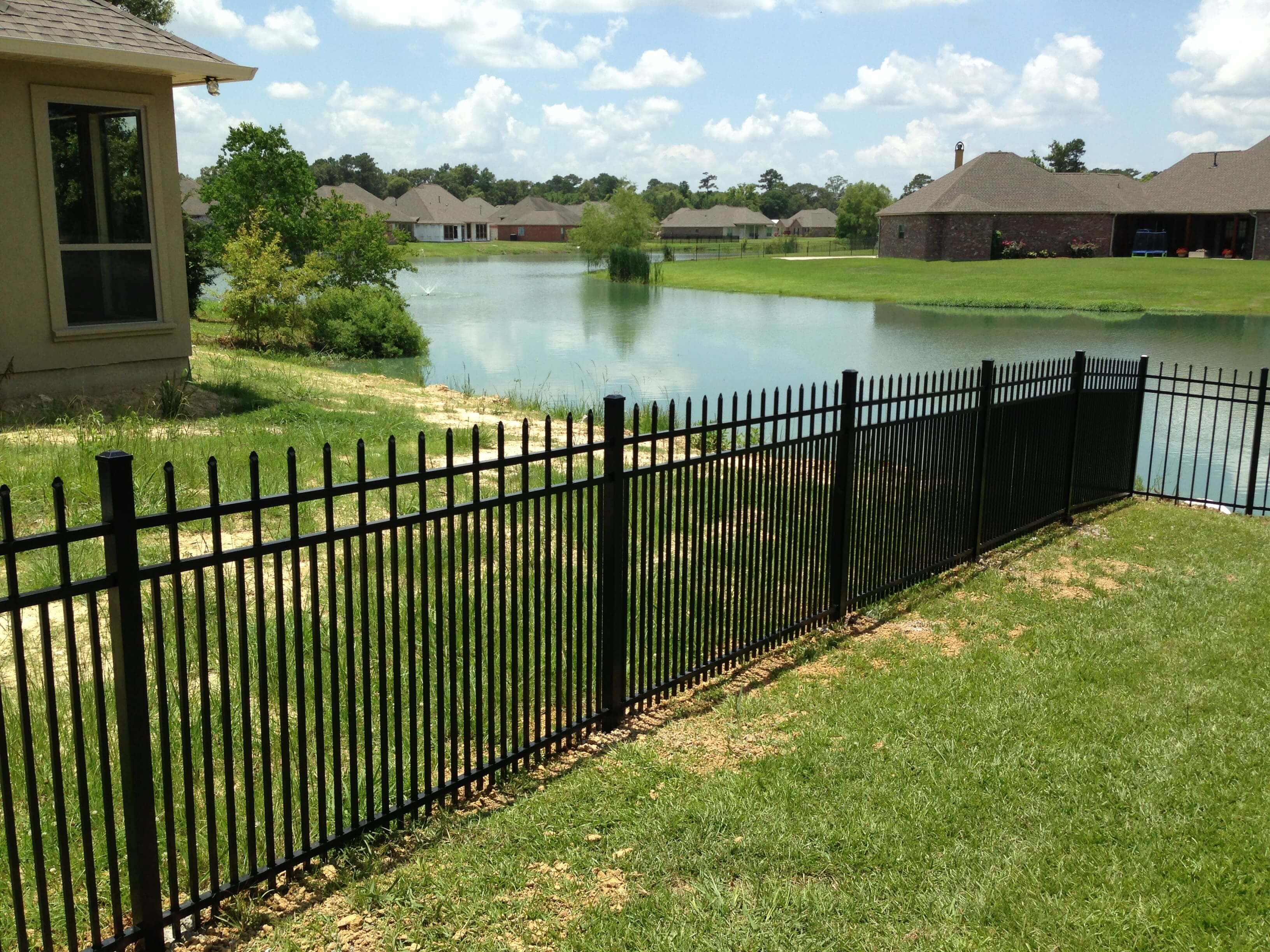 Double-Picket Aluminum Fence