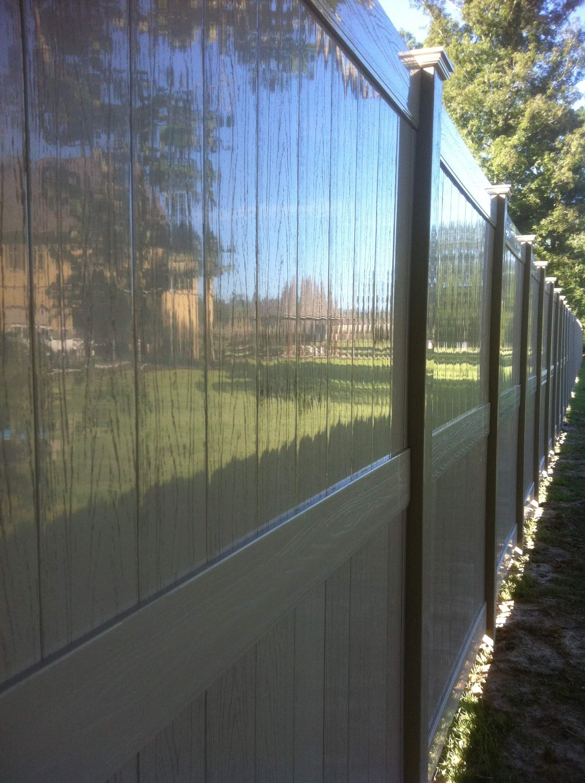 Adobe-Embossed Vinyl Fence