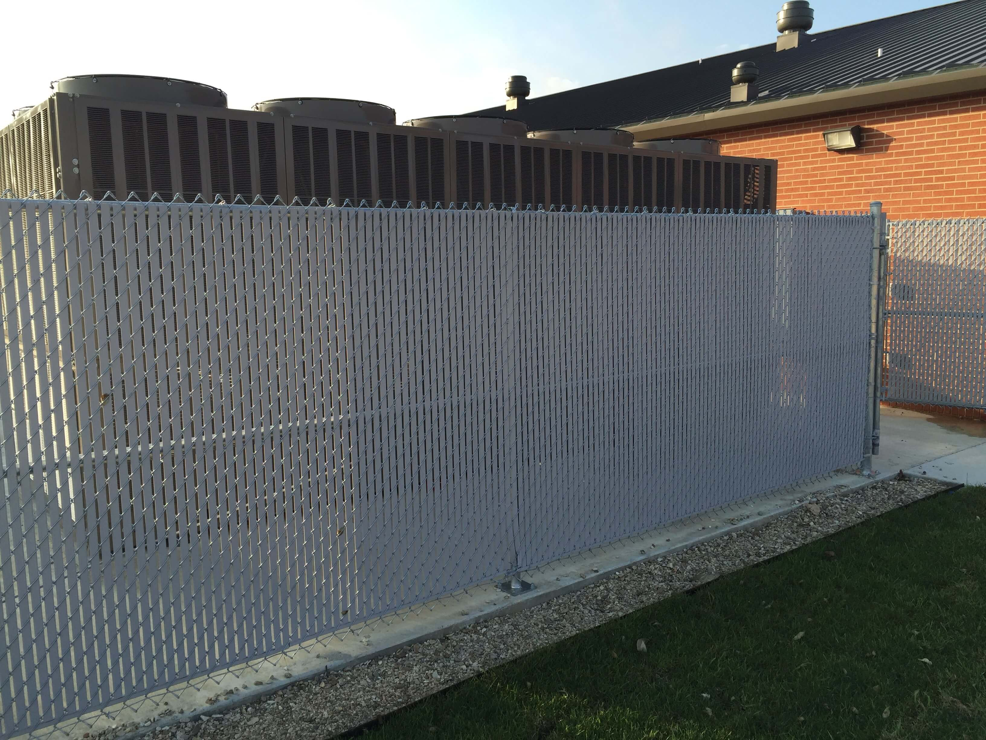 Chain Link with Privacy Slats