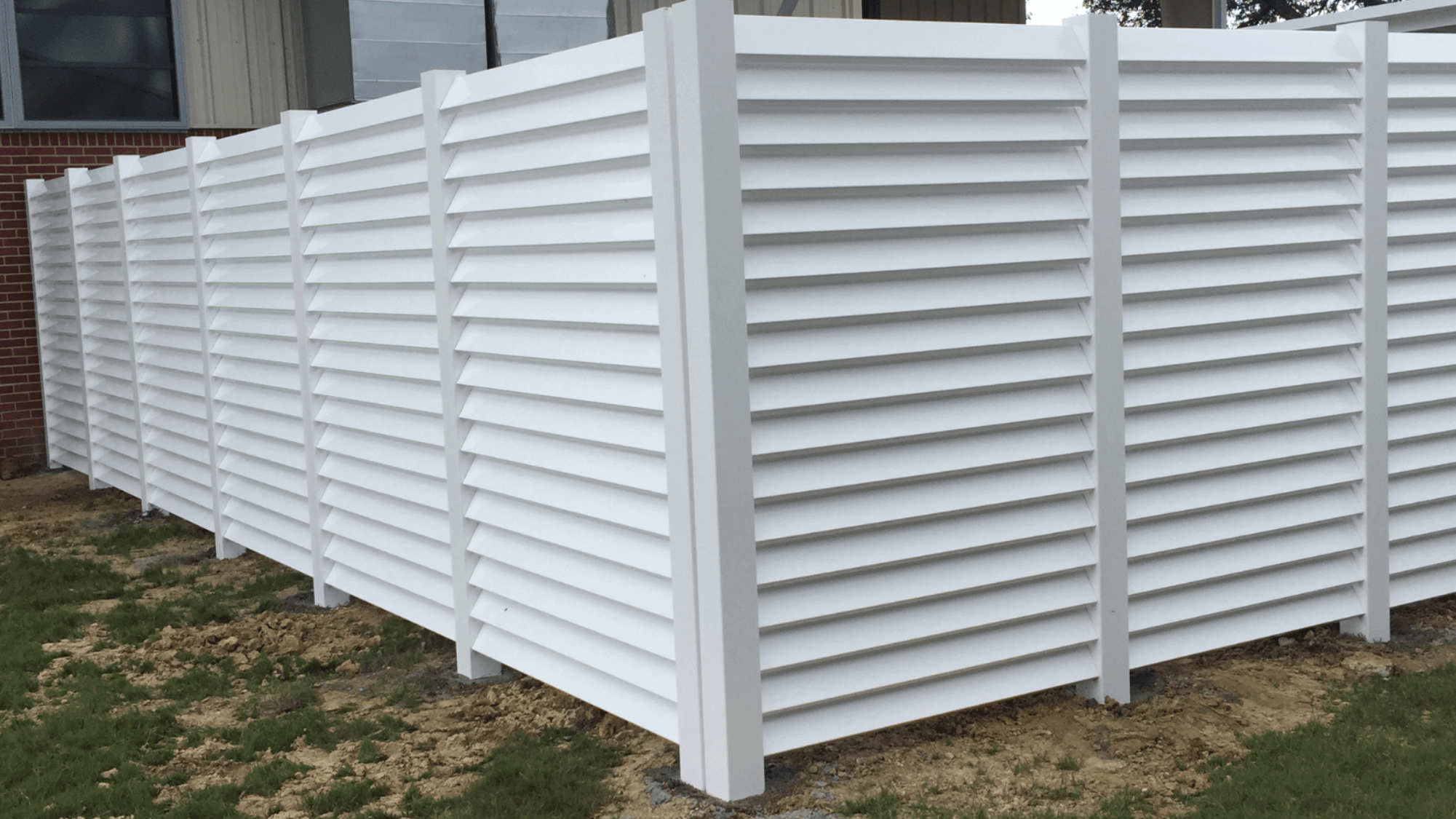 Custom Louvered Vinyl Fence